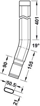 Grab rail, for hook-in ladder