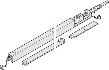 Guide rail, Dorma G96 GSR-EMF2, For narrow inactive leaves