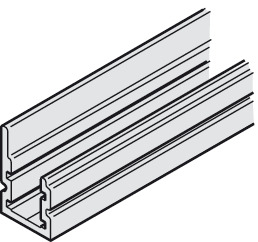 Guide rail, For wall mounting
