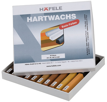 Hard wax, Basic colours, Häfele, for touching up/repairing, surface products