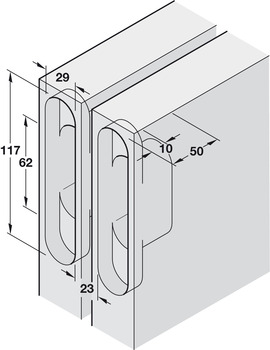Hinge, for concealed mounting
