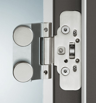 Hinge, Just 3D, 3-piece, for flush doors, steel