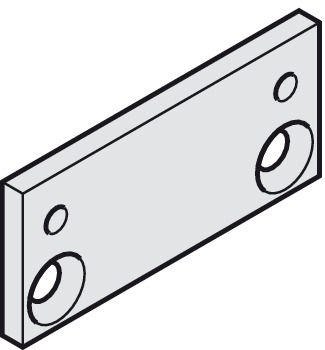 Hinge plate, for TS 72, TS 73 V and TS 83, Dorma