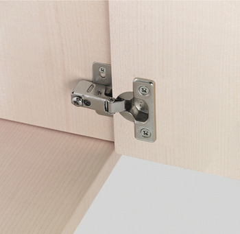 Hinge with short arm, For thin hinged doors from thickness of 14 mm
