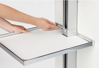 Hook-in shelf, Kesseböhmer Convoy Centro Door front fixing pull out larder unit