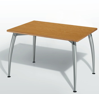 Idea 300 complete set, desking system, legs conical/curved