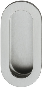 Inset Handle, stainless steel, oval