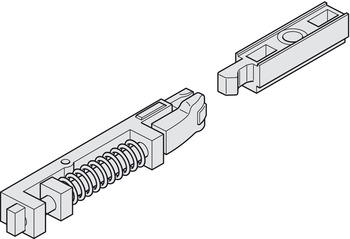 Interlocking hold-open device, For Dorma G 96 N20 guide rail