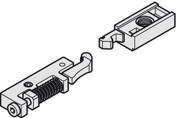 Interlocking hold open insert , for guide rail for overhead door closers TS 97, Dorma