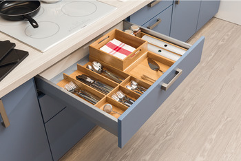 Knife block, Drawer compartment system, universal, flexible
