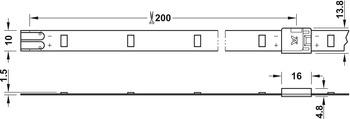 LED strip light, Can be shortened, LED 3013 – Loox, 80 W, 24 V, 5 m, 30 LEDs/m, daylight/cool/warm white