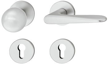 Lever handle set, Aluminium, FSB, ASL<sup>®</sup> model 12 1144