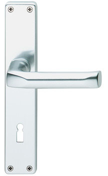 Lever handle set, Aluminium, Hoppe, London 113/202SP