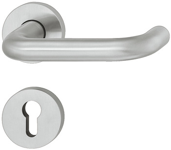 Lever handle set, stainless steel, FSB, model 72 1070