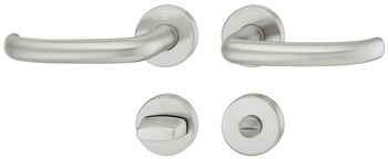 Lever handle set, Stainless steel Hoppe, San Francisco