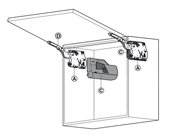 Lift mechanism unit, For Aventos HK stay flap fitting
