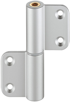 Light metal butt hinge, aluminium, partition wall system for sanitary facilities