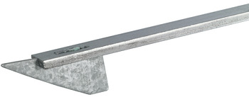 Locking bar, for central locking system, rear panel installation