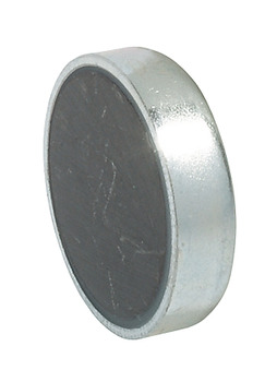 Magnetic catch, pull 4.0 kg, for glue fixing, for metal cabinets