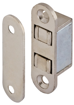 Magnetic catch, pull 4.0 kg, for recess installation, square