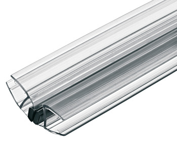 Magnetic glass door seal, 135°, Aquasys