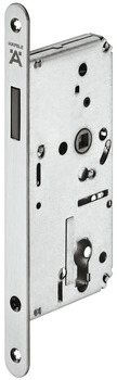 Magnetic mortise latch lock