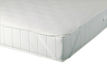 Mattress protection mat, Overlay for slats, for protecting the mattress