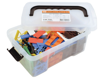Mini mounting material assortment, In plastic box