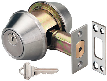 Mortise deadlock, for inside and outside, profile cylinder
