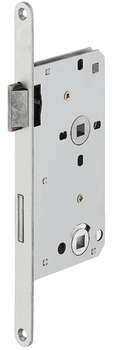 Mortise lock, for hinged doors, bathroom/WC