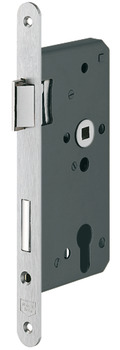 Mortise lock, for hinged doors, profile cylinder