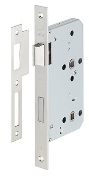 Mortise lock, for hinged doors, Startec, grade 3, bathroom/WC