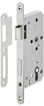 Mortice lock, For hinged doors, Startec, grade 3, profile cylinder