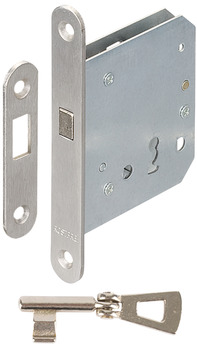 Mortise lock, for sliding doors, with compass bolt, Startec, cipher bit
