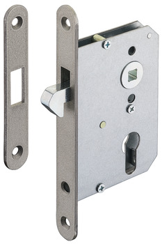 Mortise lock, For sliding doors, with hook latch, profile cylinder