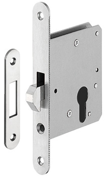 Mortise lock, for sliding doors, with hook latch, Startec, profile cylinder