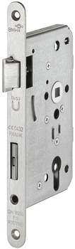 Mortise lock, stainless steel/steel, BMH, 1113, with panic function E