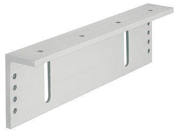 Mounting bracket, L-shape, for outwards opening doors