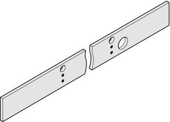 Mounting plate, length 823 mm, for guide rail from the TS 93 EMR range, Contur series