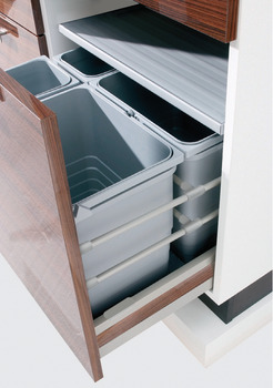 Multiple compartment waste bin, 2 x 8 and 1 x 17 litres / 2 x 8 and 2 x 17 litres / 2 x 25 litres / 2 x 35 litres / 3 x 25 litres / 3 x 35 litres