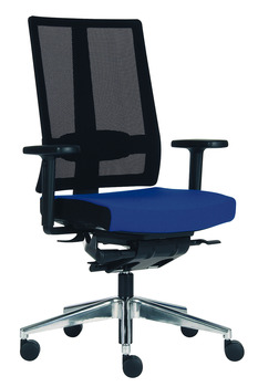 Office chair, O4006, padded seat: Fabric cover, padded backrest: Network