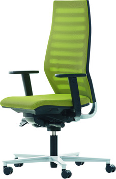 Office chair, O4009, padded seat: Fabric cover, padded backrest: Network