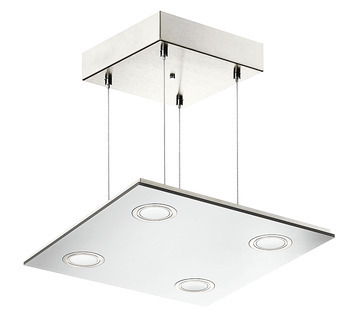 Pendant light, square, LED 1836, 230 V