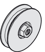 Plastic roller, with ball bearing