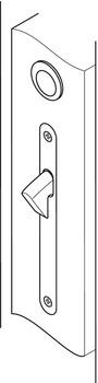Pocket door handle, for mortise locks for sliding doors