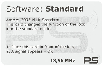 Programming card, For EFL 50 furniture lock
