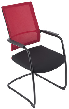 Project chair, P2003, padded seat: Fabric cover, padded backrest: Network