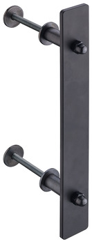 Pull handle for sliding doors, Steel, On one side