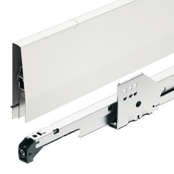 Pull out for door front fixing set, Häfele Matrix Box P35, with rectangular side railing, drawer side height 115 mm, load bearing capacity 35 kg