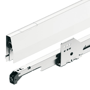 Pull out for door front fixing set, Häfele Matrix Box P70, with rectangular side railing, drawer side height 92 mm, load bearing capacity 70 kg